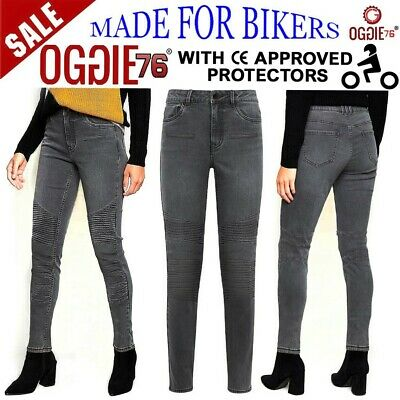 Women Motorbike Motorcycle Jeans Reinforced Ladies Protective Bike Denim Trouser • 39.99£