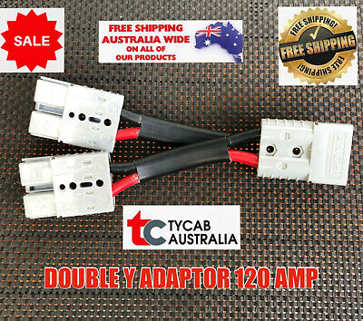 AU75.99 • Buy 120 Amp Double Adaptor Y Anderson Plug 135 Amp 4 B&s Double Tycab Cable
