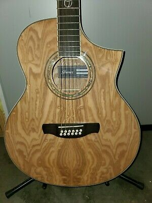 $290 • Buy Ibanez Exotic Wood Series EW2012ASENT 12-String Acoustic-Electric Guitar Gloss