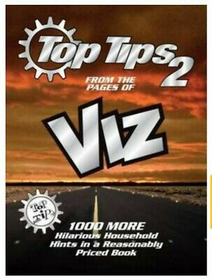 1000 MORE TOP TIPS 2  Hints From THE PAGES OF VIZ Comic Hilarious Hardback BOOK • 4£