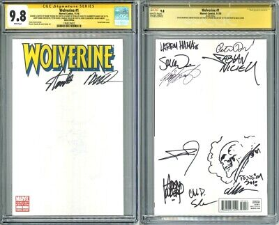 £849.58 • Buy Wolverine 1 CGC 9.8 SS Blank Sketch Signed Stan Lee, Frank Miller, Texeira, Hama