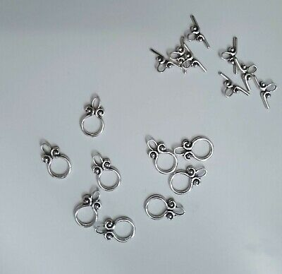 10 Toggle Clasps Bottle. Antique Silver. Jewellery Findings New (20x12mm,18x9mm) • 2.19£