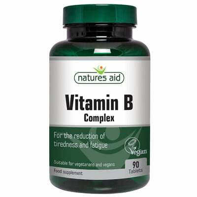 £5.95 • Buy Natures Aid Vitamin B Complex  - 90 Tablets Reduction Of Tiredness & Fatigue