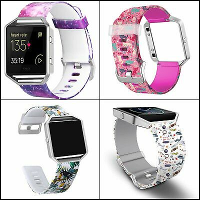 $ CDN25.13 • Buy For Fitbit Blaze Bands With Frame, Soft Silicone Printed Floral Wristband Strap
