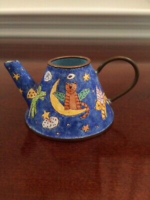 $6.50 • Buy 2000 Empress Arts Enamel Miniature Teapot Flying Angel Cats