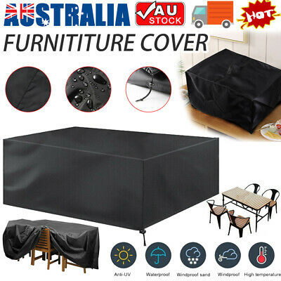 AU19.99 • Buy IN/Outdoor Furniture Cover UV Waterproof Garden Patio Table Shelter 7 Sizes AU