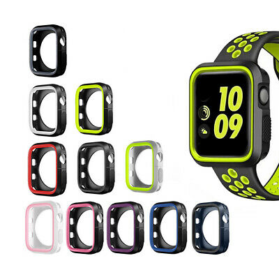 AU7.49 • Buy Silicon Bumper Case Cover For Apple Watch Series 1 2 3 4 5 6 38mm 40mm 42mm 44mm