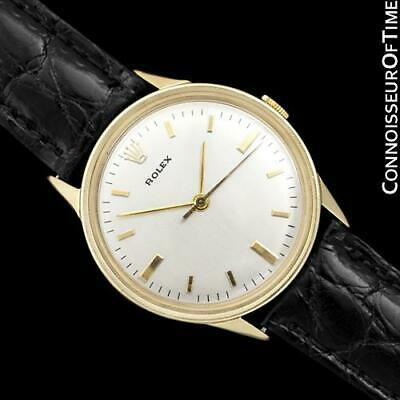 $ CDN4069.01 • Buy 1950's Rolex Precision Vintage Mens 14K Gold Watch - Minty With Warranty