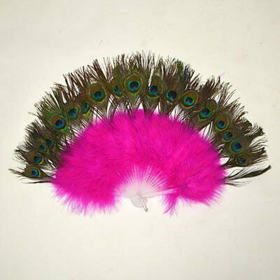 Feather Fans - Peacock & Pink • 18£