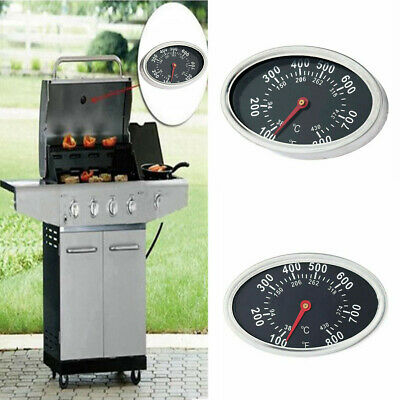 £3.99 • Buy 800℉ Oval Barbecue BBQ Smoker Grill Thermometer Temperature Gauge Replacements