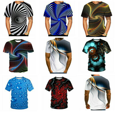 BIAN-64 Youth King Clubs Casual 3D Pattern Printed Short Sleeve T-Shirts Top Tees
