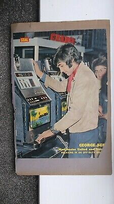 George Best Signed Magazine Picture • 12.99£
