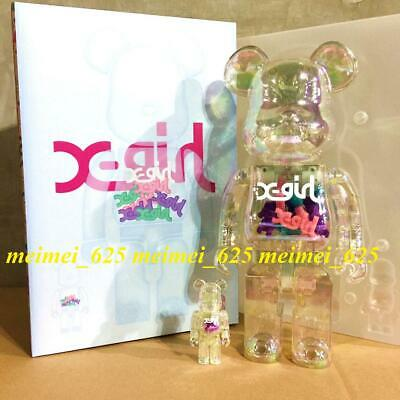$1388.88 • Buy Bearbrick Medicom 2019 Xgirl X-girl Clear Ver. 100% 400% Be@rbrick