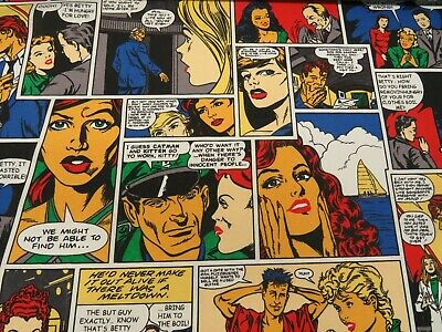 £9.99 • Buy DIGITAL COMIC BOOK Cotton Fabric Curtain Upholstery Quilting Crafts Blinds