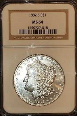 $39.98 • Buy 1882-s Morgan Silver Dollar Ngc Ms 64, Brown Label