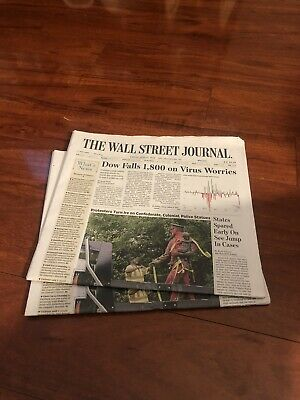$10 • Buy The Wall Street Journal Protesters Turn Ire On Statues 6/12/20