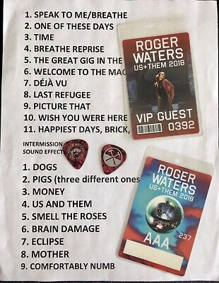 $ CDN85.88 • Buy Roger Waters Set List, Guitar Picks & Passes Pink Floyd