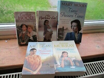 5 Women's Fiction Books - Val Wood - Evelyn Hood - Annie Murray - Mary Wood • 12.99£