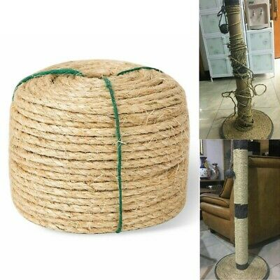 5mmx50m Natural Sisal Rope Cat Scratching Post Claw Control Toy Craft Pet Animal • 9.39£