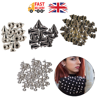 Punk Studs Tree Shape Rivets With Pins For Bags DIY Leathercrafts Clothes 100pcs • 3.49£