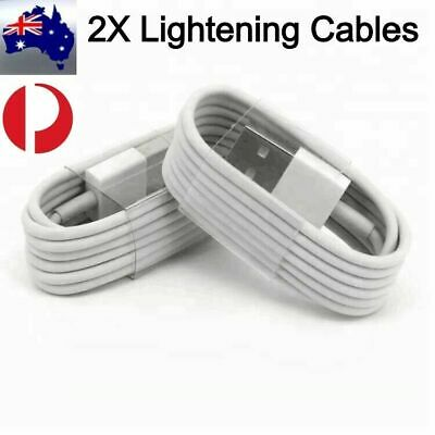 AU6.99 • Buy 2x 1M Genuine USB Data Charging Cable Charger For Apple IPhone 8 7 6 X Max
