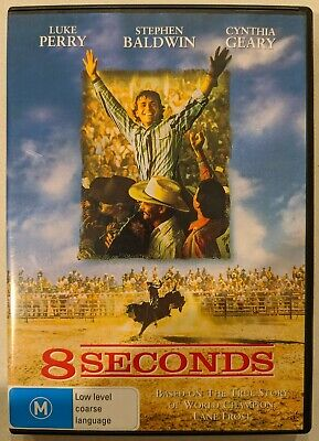 AU8.99 • Buy 8 Seconds DVD (1994) Luke Perry Stephen Baldwin - Rodeo Bull Riding Movie - Rare