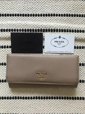 Prada Womens Saffiano Pink Wallet Purse • 70£
