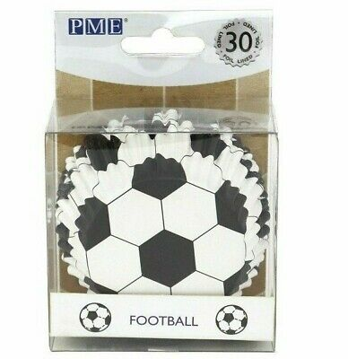 £5.25 • Buy Football Cupcake Baking Cases Foil Pack Of 30 PME