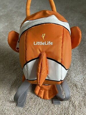 Used LittleLife Clownfish Toddler Backpack With Rein • 5.99£