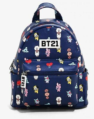 $40 • Buy BT21 MINI BACKPACK BTS CHARACTERS ALL OVER BLUE - New With Tags!