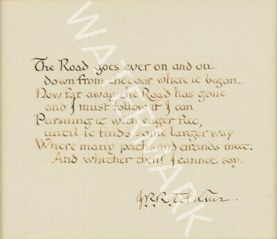 £5.43 • Buy J.r.r. Tolkien Signed 10x8 Print, Lord Of The Rings Quote, Looks Awesome Framed