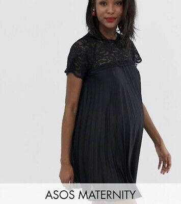 AU30 • Buy ASOS Maternity Black Lace Swing Dress 18