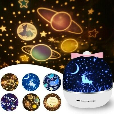AU24.99 • Buy 6 In 1 Star Sky Starry Night Projector Light Led Lamp For Kids Baby Bedroom