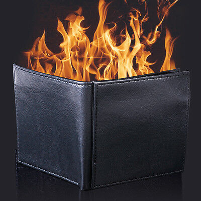 £7.99 • Buy Magic Trick Flame Fire Wallet Leather Magician Stage Inconceivable Show 100% New