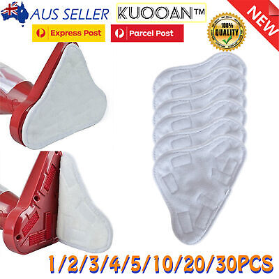 AU11.99 • Buy Brand New H20 H2O StickOn White (X5 Steam Mop) Washable Cleaning Pads Microfiber