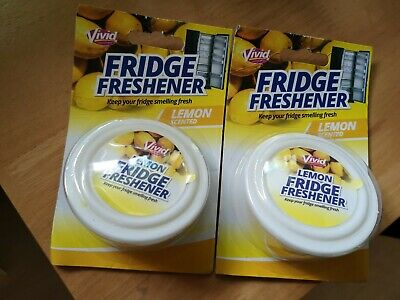 Fridge Fresheners X 2. Vivid Lemon Scented Keeps Fridge Fresh Fresheners New.  • 4.99£