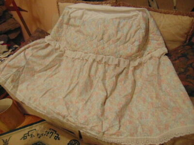 $30.99 • Buy Bassinet Skirt Fits Into Bassinet No Hood Cover-Eyelet Lace-Quilted-Pastel Color