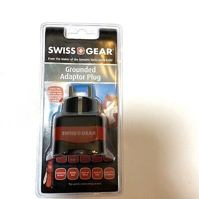 Swiss Gear Grounded Adapter Plug For Global International Travel Fit Most Outlet • 10.73£