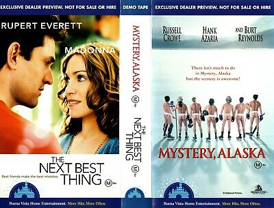 MYSTERY ALASKA/THE NEXT BEST THING -VHS-Time Coded-Video Dealer Preview Tape-PAL • 13.89£