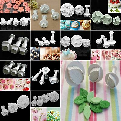 Fondant Cake Cutter Plunger Xmas Cookie Mold Sugarcraft Flower Decorating Mould • 1.99£