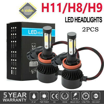 AU19.82 • Buy 2x H8/H9/H11 LED Headlight Bulbs Low Beam High Power 6000K 20000LM Canbus 4 Side