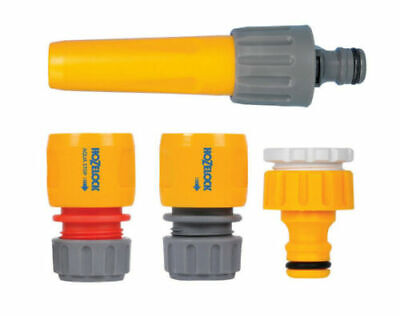 Hozelock Hose Pipe Water Spray Nozzle StarterSet Tap Fitting Hosepipe Attachment • 13.99£