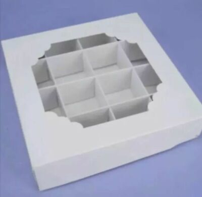 £19.99 • Buy *sale* L@@k* 15 X  Empty White Sweet Boxes With Acetate Window, With Inserts New