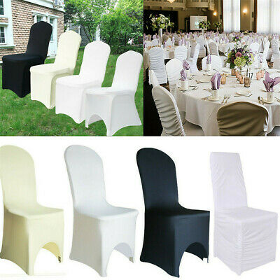 £115.97 • Buy 1/10/50/100pcs Chair Covers Removable Slipcover Protector Wedding Banquet Party