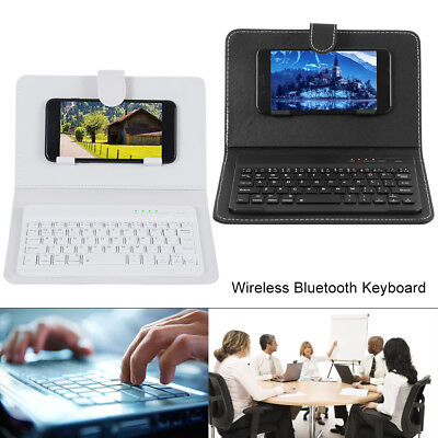 £11.99 • Buy Wireless Bluetooth Keyboard Case Cover With Stand Universal For 4.5 / 6.5 Phones