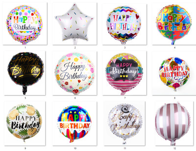 AU1.65 • Buy Birthday Foil Balloon - Happy Birthday Party Helium Foil Balloons (45cm/18inch)