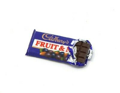 £5.23 • Buy Miniature Dolls House Accessories Opened Cadbury Fruit & Nut Chocolate 1:12th