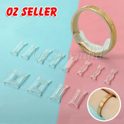 AU4.95 • Buy 12x Invisible Tightener Ring Size Reducer Resizing Adjuster Pad Jewellery Tools