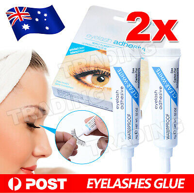 AU6.85 • Buy 2x DU Waterproof Clear White False Adhesive Eye Lash Glue Eyelashes Makeup NEW