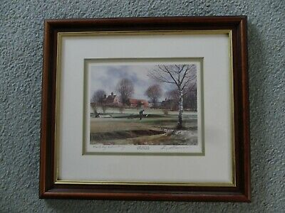 Terry Harrison Framed Print  Chip & Run  Hartley Wintney Frame Size 15.5  X 13.5 • 22.50£
